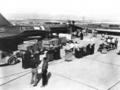 English: First YF-12 Prototype Aircraft, Groom Lake Nevada, 1960