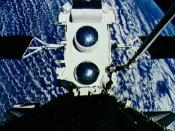 The Compton Gamma Ray Observatory during deployment from STS-37
