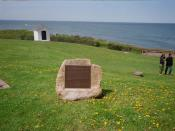 English: Memorial at for slaves on the Spanish ship who revolted against their masters, only to be forced onto the coast of , captured by the , and wound up in a custody battle between Spain and the United States for their right to return to Africa.