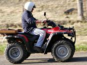 The ATV is commonly called a quad (bike) in Australia, New Zealand, South Africa, the United Kingdom and parts of Canada, India and the United States. They are used extensively in agriculture, because of their speed and light footprint.