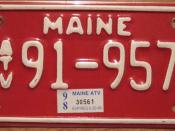 MAINE 1998 ALL TERRAIN VEHICLE plate