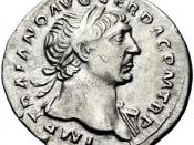 English: Denarius featuring emperor Trajan