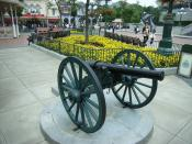 A cannon located at the Town Square of Hong Kong Disneyland