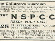 English: An appeal for funds by the NSPCC made in 1931