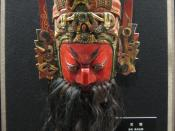 Qing Dynasty mask of Guan Yu.