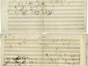 Piano Sonata in A Major, op. 101, Allegro: manuscript sketch in Beethoven's handwriting.
