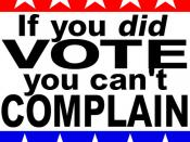 If You DID Vote, You Can't Complain