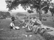 The Picnic, overseen by a guide from Gaze's Tours...