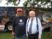 English: Pennsylvania President Bill George and National President John Sweeney in front of the