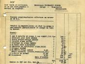 English: invoice between the plant Minerva and customer Blommaert in Nederbrakel. (engine 20 HP P.L.)