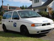 English: United States Postal Service, Ford Windstar Minivan. In Olympia