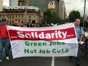 Solidarity - Green Jobs, Not job cuts