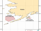 English: Map of Critical Habitat for the North Pacific Right Whale pursuant to the Endangered Species Act
