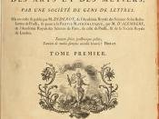 Title page of volume one of the Encyclopédie