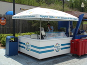 dippin' dots at Alabama Adventure Amusement Park