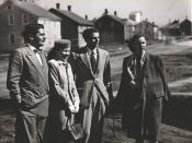 Arthur Koestler with Mamaine Paget, Robie Macauley and Flannery O'Connor