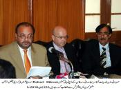 23 June 2010 Press Confrence Agha Sirraj Durrani with Robert Gibson, Photo By Photogeraphar sajjad CDGK Karachi
