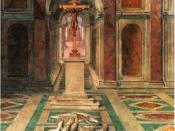 Triumph of The Cross fresco, 1585, Sala di Costantino, Vatican Palace.