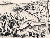 English: A 15th Century Woodcut depicting the war between the Amazons and the Greeks.
