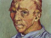 Self-portrait without beard, end September 1889, (F 525), Oil on canvas, 40 × 31 cm., Private collection. This was Van Gogh's last self portrait. Given as a birthday gift to his mother. Pickvance (1986), 131