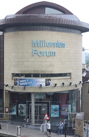 English: Millennium Forum, Newmarket Street, Derry, County Londonderry, Northern Ireland, August 2009