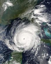 Sunglint near Hurricane Rita.