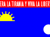 English: Flag of Falcón State, Venezuela. Adopted in 2006.