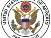English: Seal of the United States Court of Appeal for the Fifth Circuit. As indicated below, this image is a work of the United States Government and under copyright protection is not available for any work of the U.S. government. Image available here on
