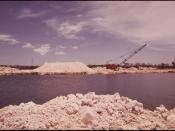 SCENE ACROSS A CHANNEL DUG BY A DRAGLINE AT NORTH KEY LARGO. THIS PROCEDURE IS REGULATED BY THE STATE GOVERNMENT, BUT... - NARA - 548644