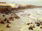 Oil painting of Coney Island