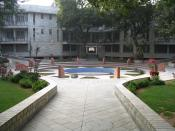 English: Sri Aurobindo Ashram campus, New Delhi. Français : Le campus l'Ashram de Sri Aurobindo, à New Delhi, en Inde.