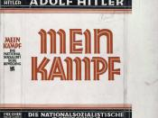 English: Dust jacket of the book Mein Kampf, written by Adolf Hitler. Courtesy of the New York Public Library Digital Collection.