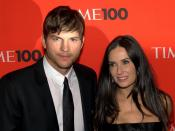 English: Ashton Kutcher and Demi Moore at the 2010 Time 100.