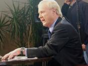Chris Matthews during an edition of Hardball in Manchester, NH
