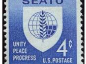 US postage stamp, 1960 in honor of SEATO.