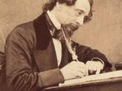 English: Detail from photographic portrait of Charles Dickens