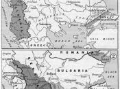 Boundaries on the Balkans after the First and the Second Balkan War, 1912-1913.