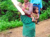 Baiga tribe family in Balaghat district Madhya Pradesh, India