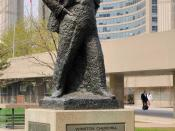 English: Toronto: Winston Churchill statue at City Hall Deutsch: Toronto: Winston Churchill Statue am Rathaus