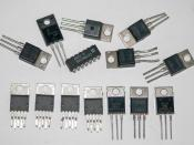 English: Several assorted integrated circuit chips.