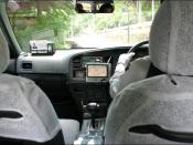 English: Taxi ride through Kyoto, GPS navigation system installed.