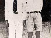 Võ Nguyên Giáp (left) and Hồ Chí Minh in Hà Nội, October 1945.