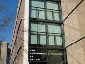 English: The entrance to the Yale University Art Gallery, designed by Louis Kahn.