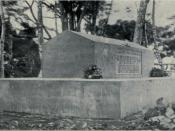 English: Grave of Robert Louis Stevenson on Mt Vaea on Upolu island in Samoa