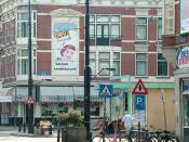 OMO-reclame in Rotterdam, Nieuwe Binnenweg / Claes de Vrieselaan