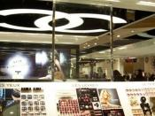 Chanel cosmetics at the Galeries LaFayette in Paris