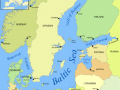 Map of the Baltic Sea, showing the Gulf of Bothnia in the upper half