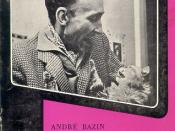 André Bazin on the cover of the third volume of the original edition of Qu'est-ce que le cinéma?