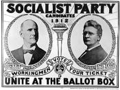 Campaign poster from the 1912 Presidential campaign, where Seidel ran as a running mate with Eugene Debs