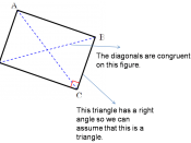 English: A quadrilateral with the properties of a rectangle that includes: All four angles are 90⁰ (right angles) Diagonals are congruent